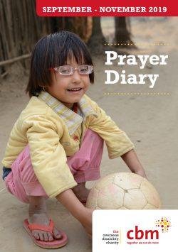 CBM UK Prayer Diary Sept-Nov 2019 Front Cover