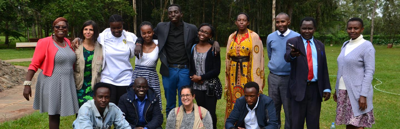 Outdoor safe space at CBM's partner Kenyatta University in Kenya