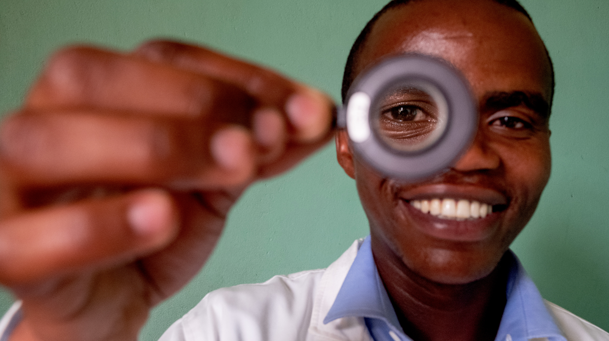 Ophthalmic clinical officer Aloys