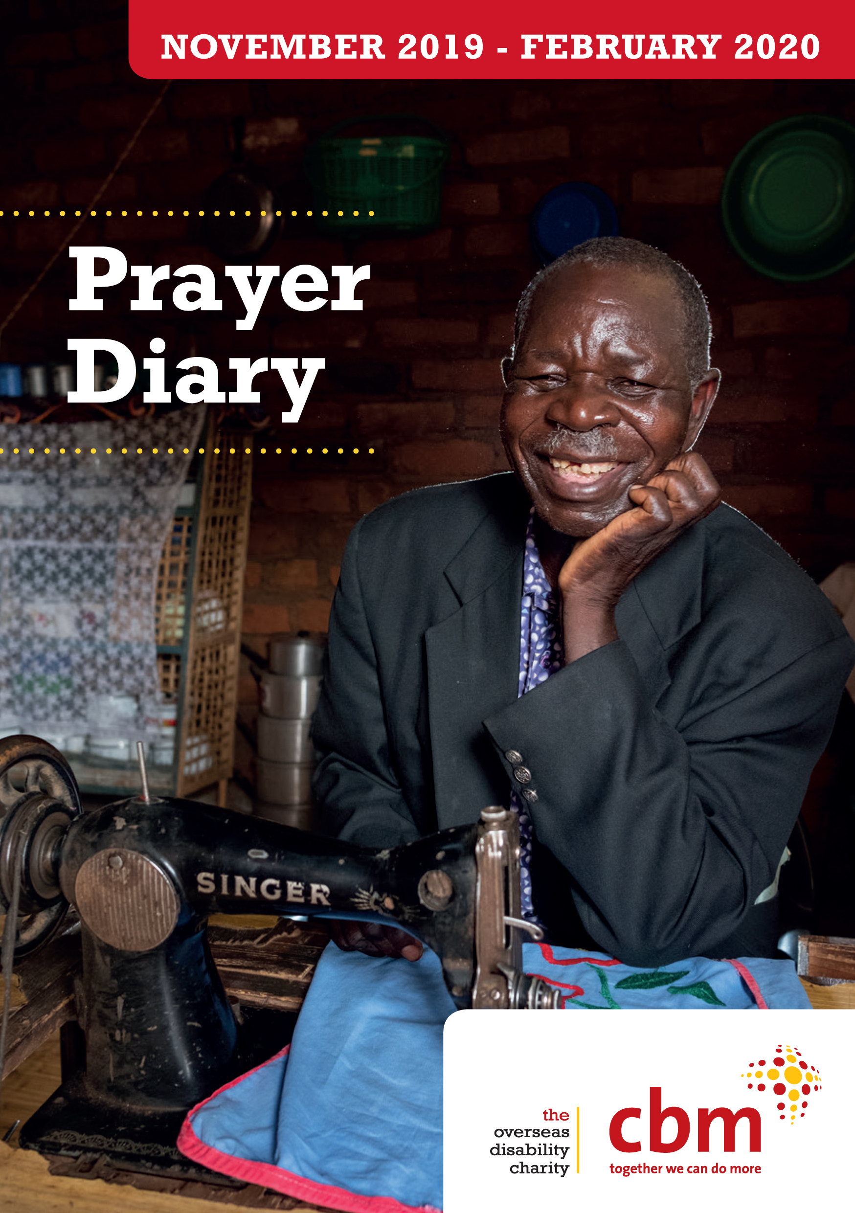Front cover of the prayer diary nov 2019-feb 2020