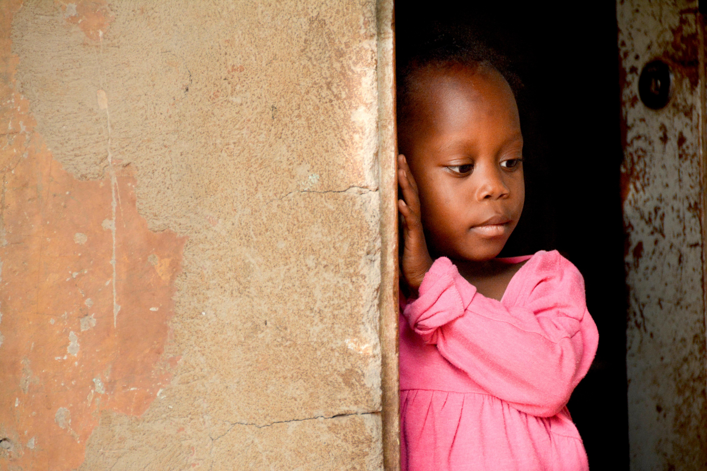 5-year-old Shalom from Uganda has cataracts