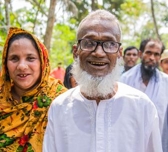 Sultan Gazi with members of his community in Bangladesh