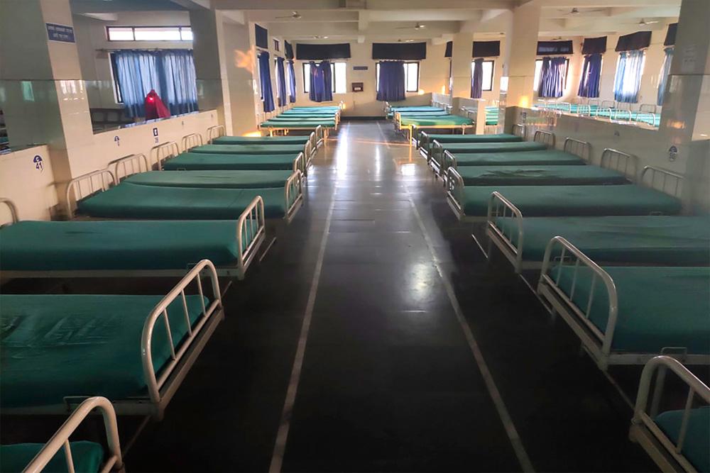 Empty day-care unit of CBM partner Biratnagar Eye Hospital.