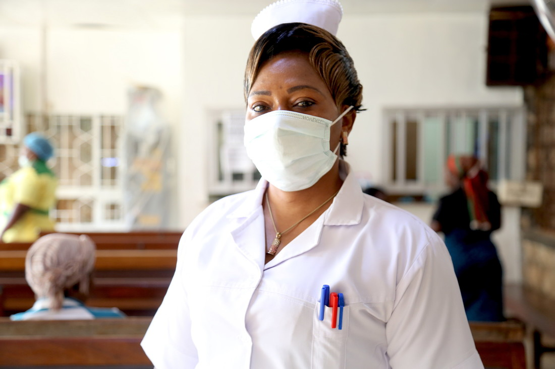 Chimi, Nurse from a CBM-supported health centre in Cameroon, Central Africa