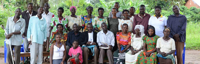 Village Savings and Loans Association group meeting in Uganda