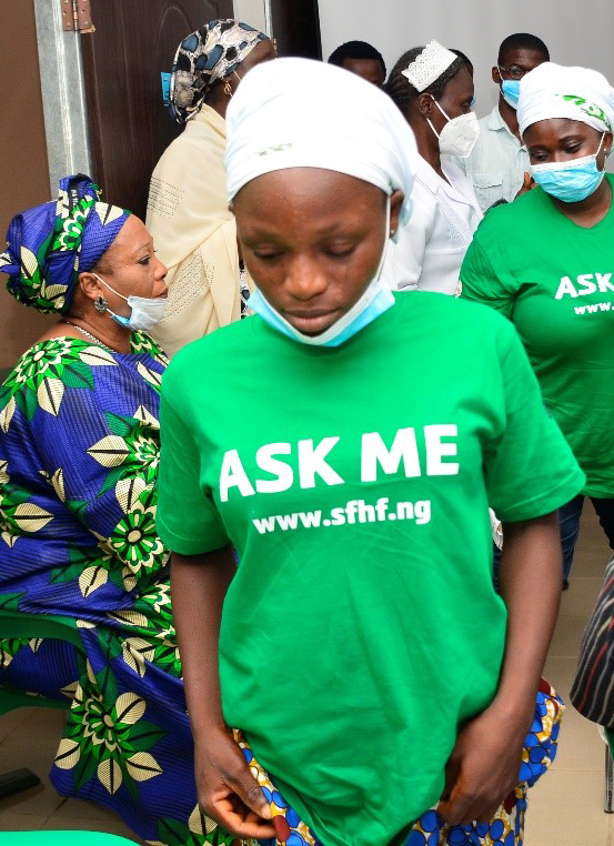 Justina (18) at the Survive Fistula Healthcare Foundation in Nigeria.