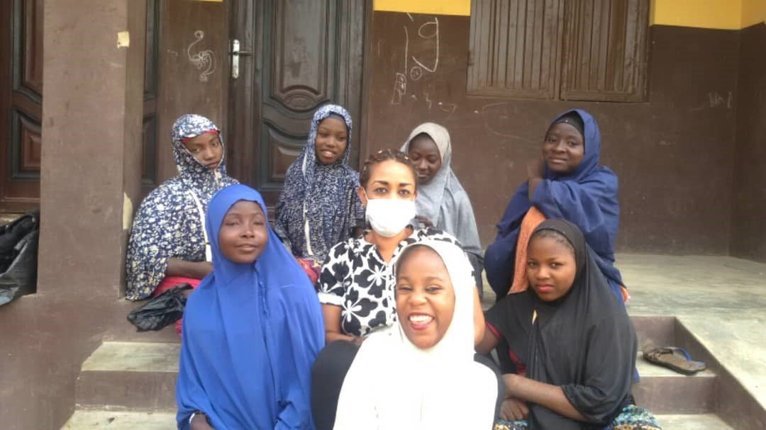 Girls with disabilities attending life skills training