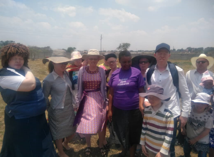 A group of youth with albinism in Zimbabwe