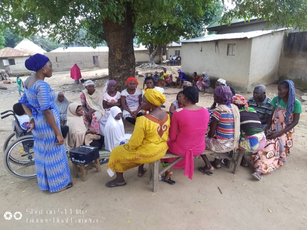 VSLA weekly meeting in Guabe, Kuje