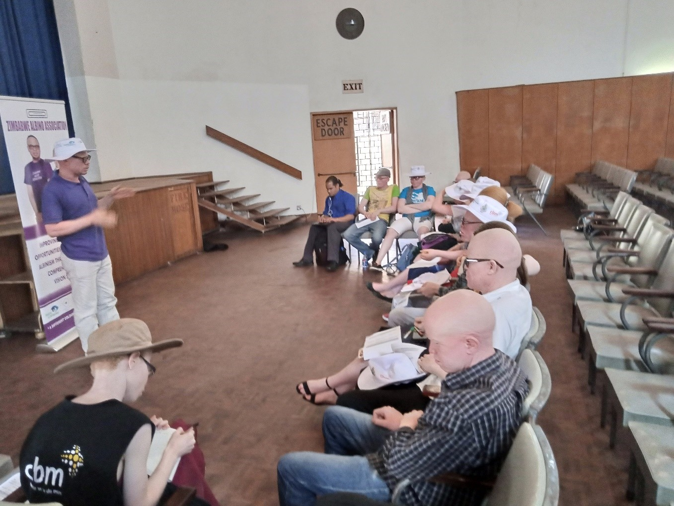 Youths with albinism at one of the self-esteem seminars