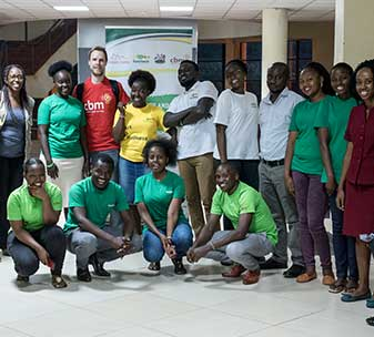 Group photo of CBM and BasicNeeds staff working on the mental health project in Kenya.