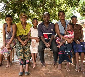 Esterei, MeHUCA local committee member, at home with her family.