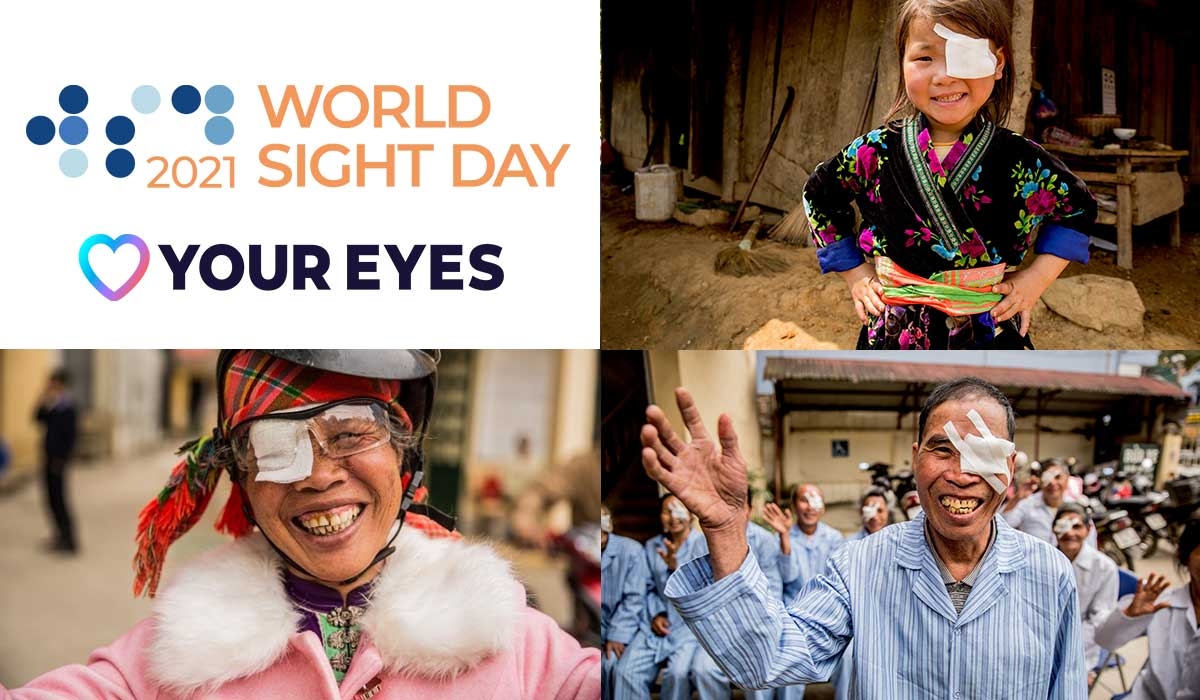 World Sight Day and Love Your Eyes logos from IAPB, Nhung, Pom and Khut