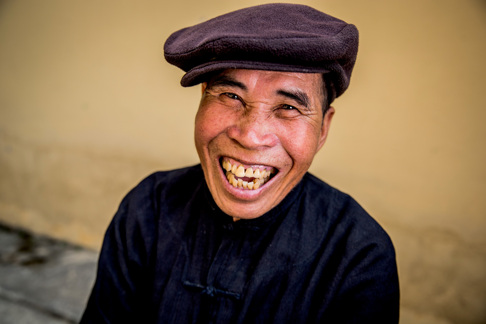 Khut wearing a hat and smiling