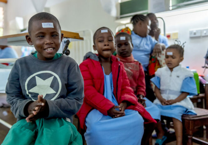 Children waiting for their surgery